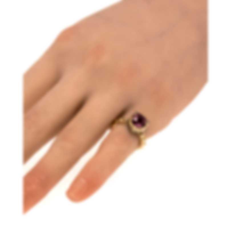 Gucci Le Marche Des Merveilles 18k Yellow Gold Diamond Ring Sz 5.25 YBC503084004