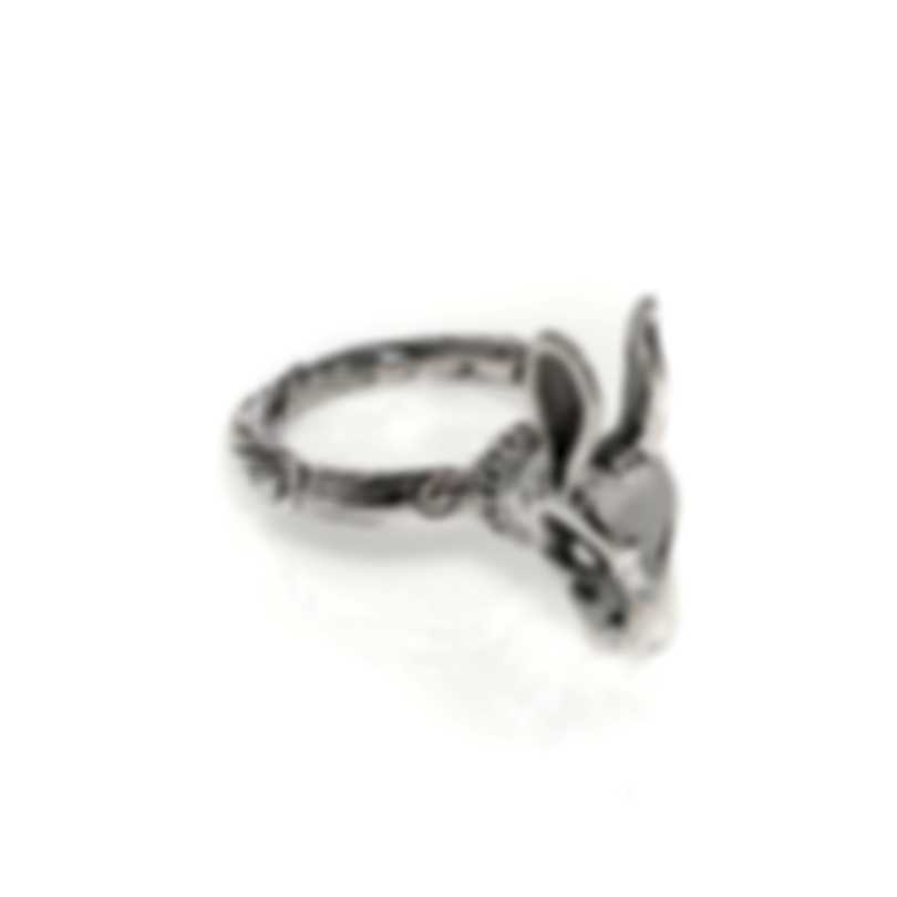 Gucci Angry Forest Sterling Silver Ring Sz 5.25 YBC511852001010
