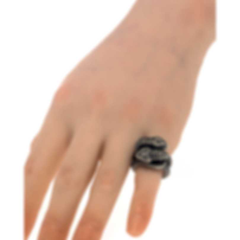 Gucci Gucci Garden Sterling Silver Ring Sz 5.5 YBC525174001011