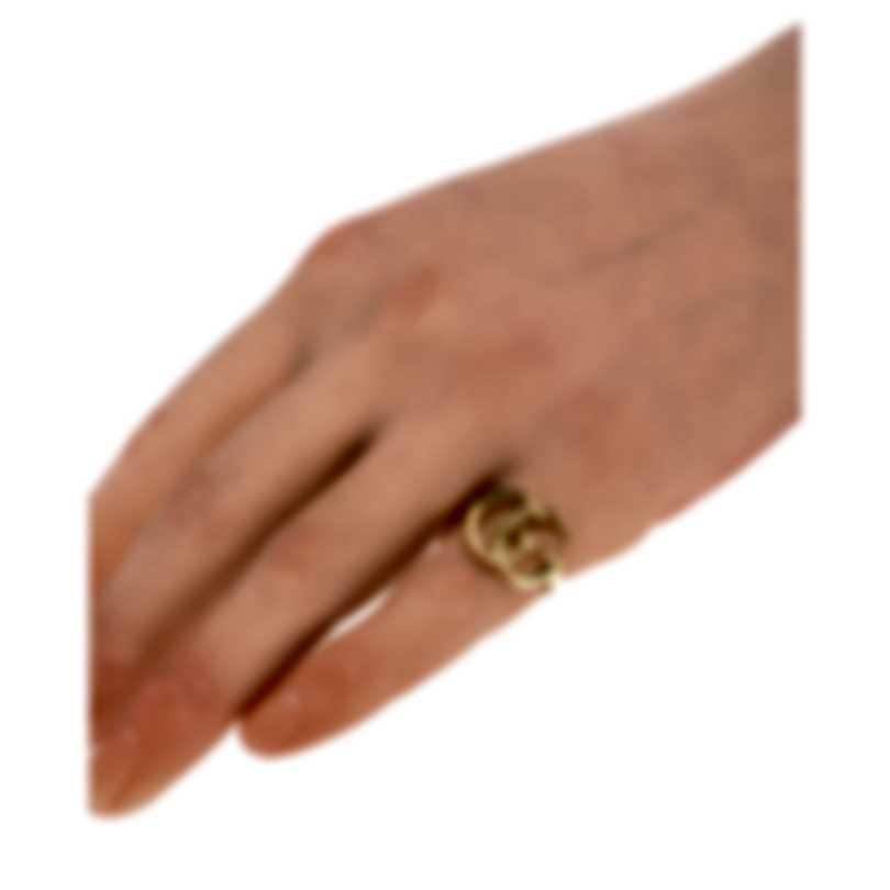 Gucci Running G 18k Yellow Gold Ring Sz 4.5 YBC525686001008