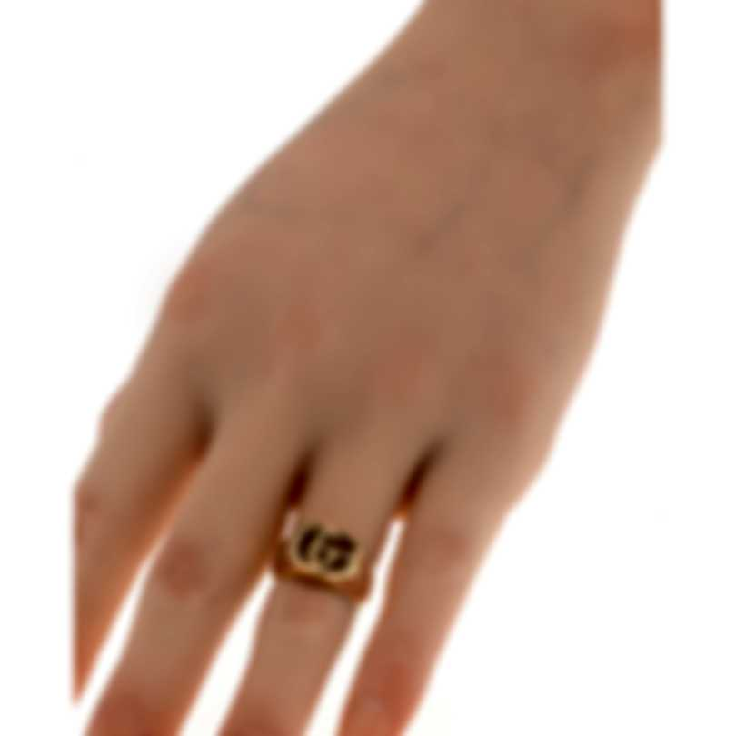 Gucci Running G 18k Yellow Gold Ring Sz 4.5 YBC525727001008
