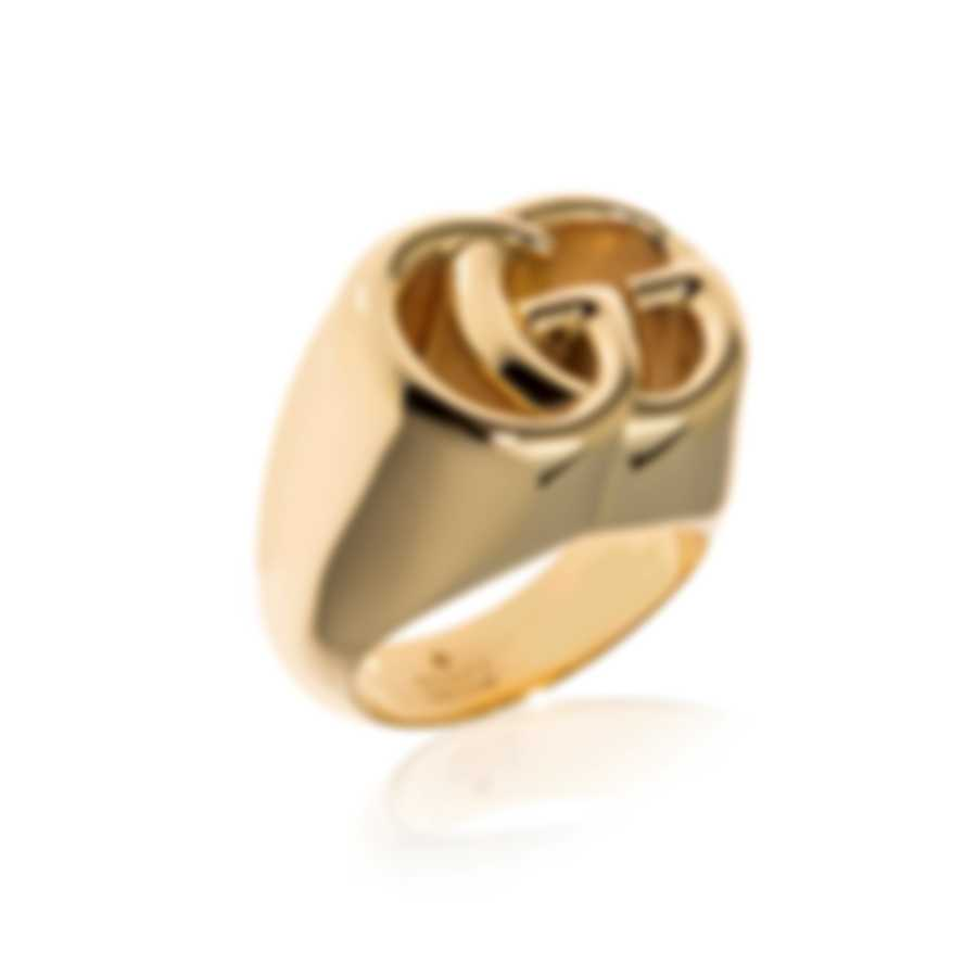 Gucci Running G 18k Yellow Gold Signet Style Ring Sz 7.25 YBC525732001015