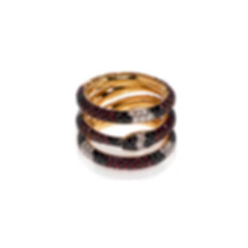 Gucci Ouroboros 18k Yellow Gold Diamond 1.28ct & Sapphire Ring 2.5 YBC527040001