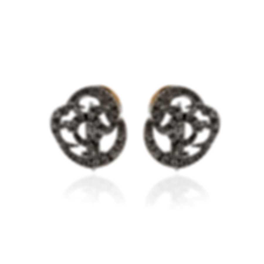 Damiani 18k White And Rose Gold Diamond 0.35ct Earrings 20023679