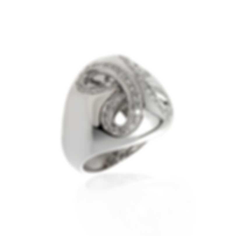 Damiani 18k White Gold Pave Diamond 0.65ct Ring Sz 7.5 20030406