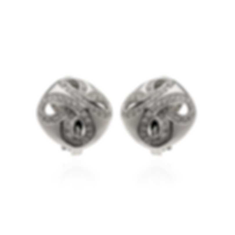 Damiani 18k White Gold Diamond 0.43ct Huggie Earrings 20030409