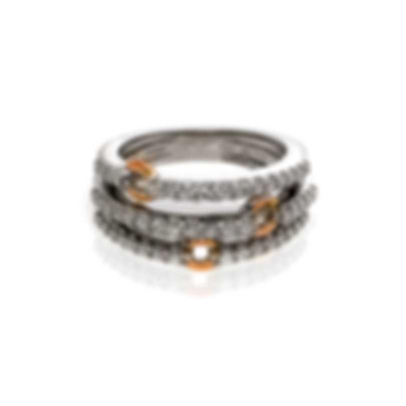 Damiani 18k White And Rose Gold Diamond 0.6ct Ring Sz 6 20037124
