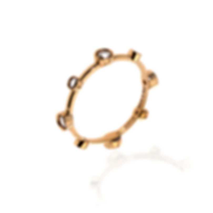 Damiani Moon Drops 18k Rose Gold Diamond 0.28ct Ring Sz 8.25 20042247