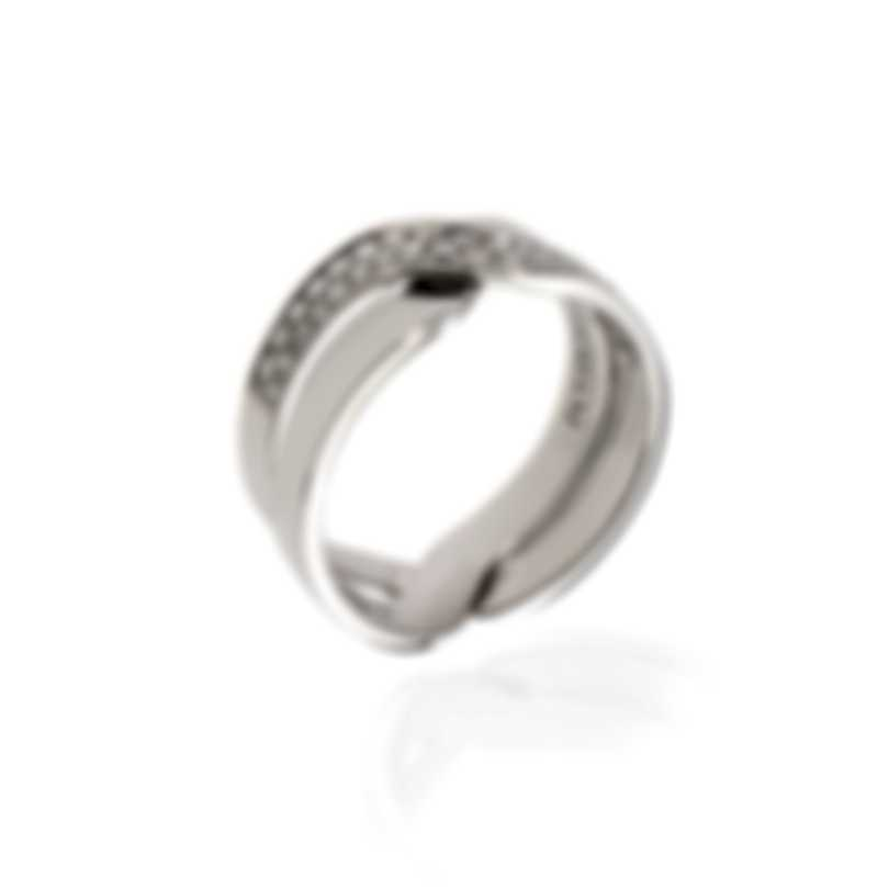 Damiani Abbracio 18k White Gold Diamond 0.18ct Ring 200457