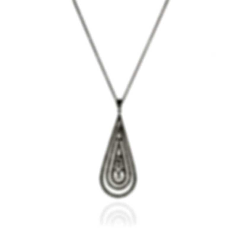 Damiani Regina Cleopatra 18k White Gold Diamond 1.97ct Necklace 20046255