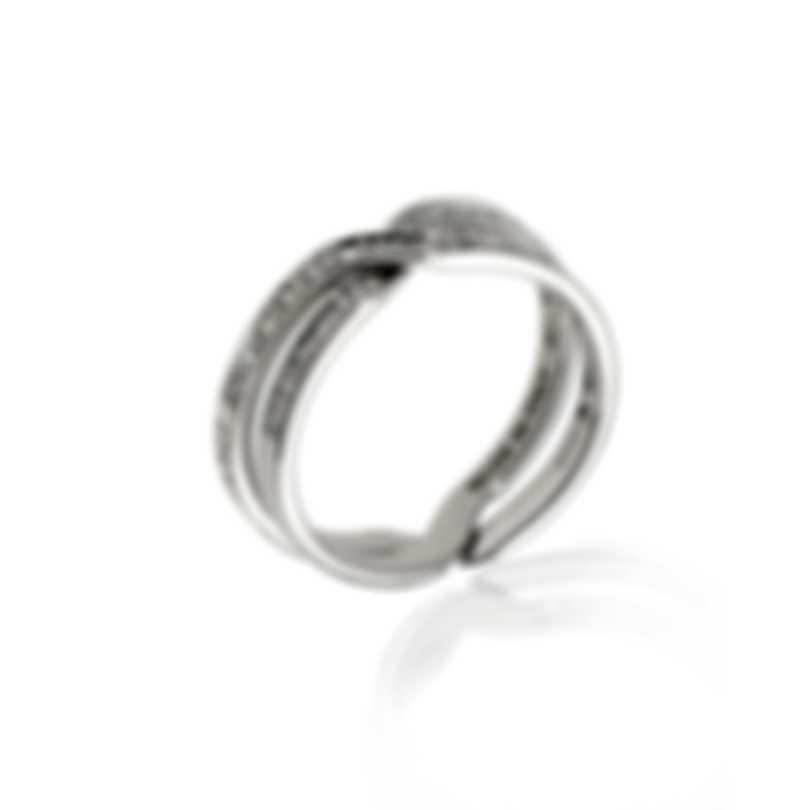 Damiani Abbracio 18k White Gold Diamond 0.15ct Ring 20049355