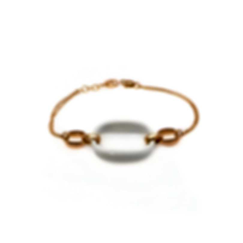 Damiani D Lace 18k Rose Gold Diamond Accent And Agate Bracelet 20055363