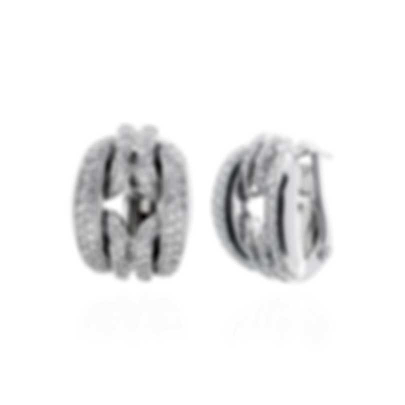 Damiani D Lace 18k White Gold Diamond 1.168ct Earrings 20057232