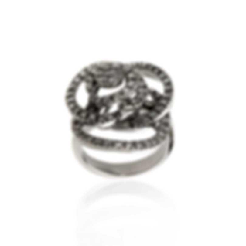 Damiani Bocciolo 18k White Gold Diamond 1.438ct Ring Sz 7.5 20059573