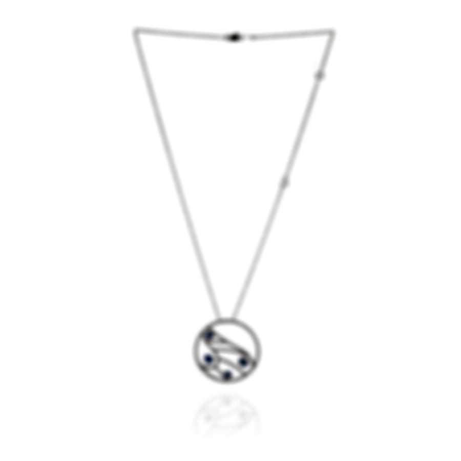 Damiani Battito D'ali 18k White Gold Diamond 1.259ct And Sapphire Necklace 20060906