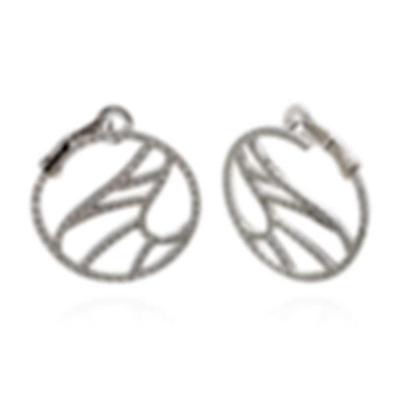 Damiani Battito D'ali 18k White Gold Diamond 1.322ct Earrings 20061393