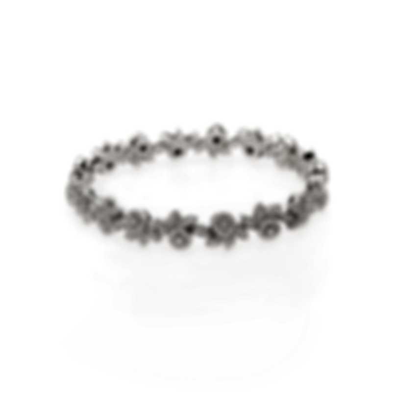 Damiani 18k White Gold Diamond 2.88ct Flower Tennis Bracelet 20063194