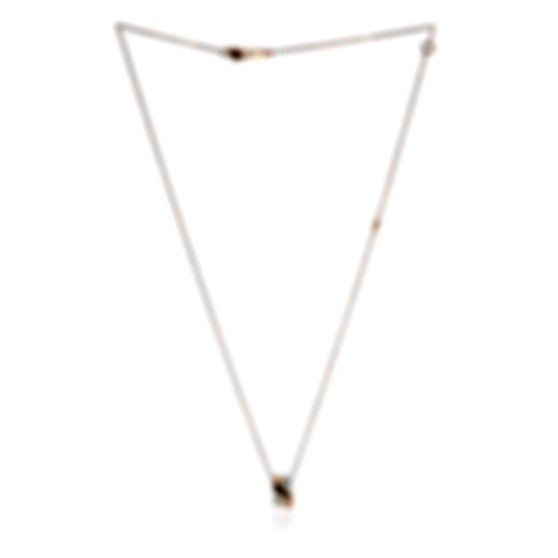 Damiani Abbracio 18k Rose Gold And Ceramic Diamond 0.005ct Necklace 20072871