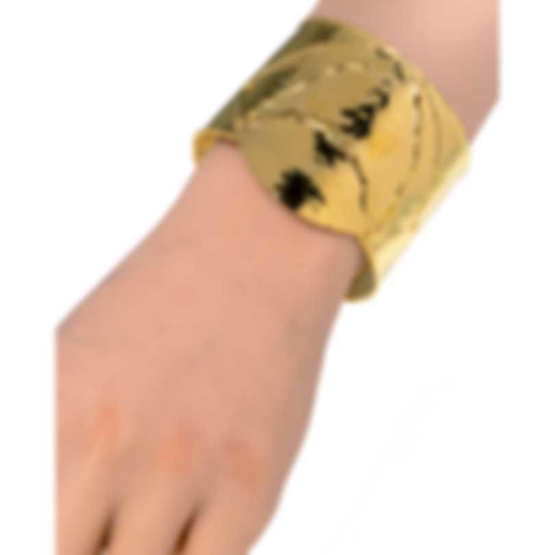 Devon Leigh 18K Gold Plated Brass Cuff Bracelet CUFF110
