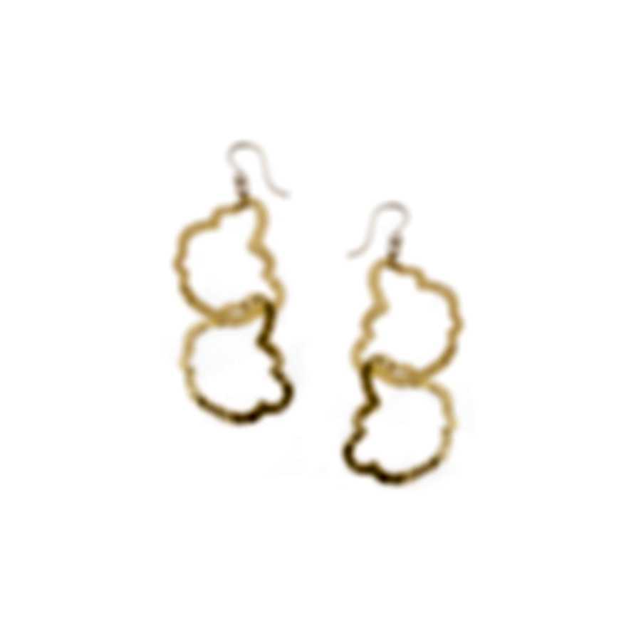 Devon Leigh 18K Gold Plated Brass, 14K Gold Filled Ear Wire  Earrings