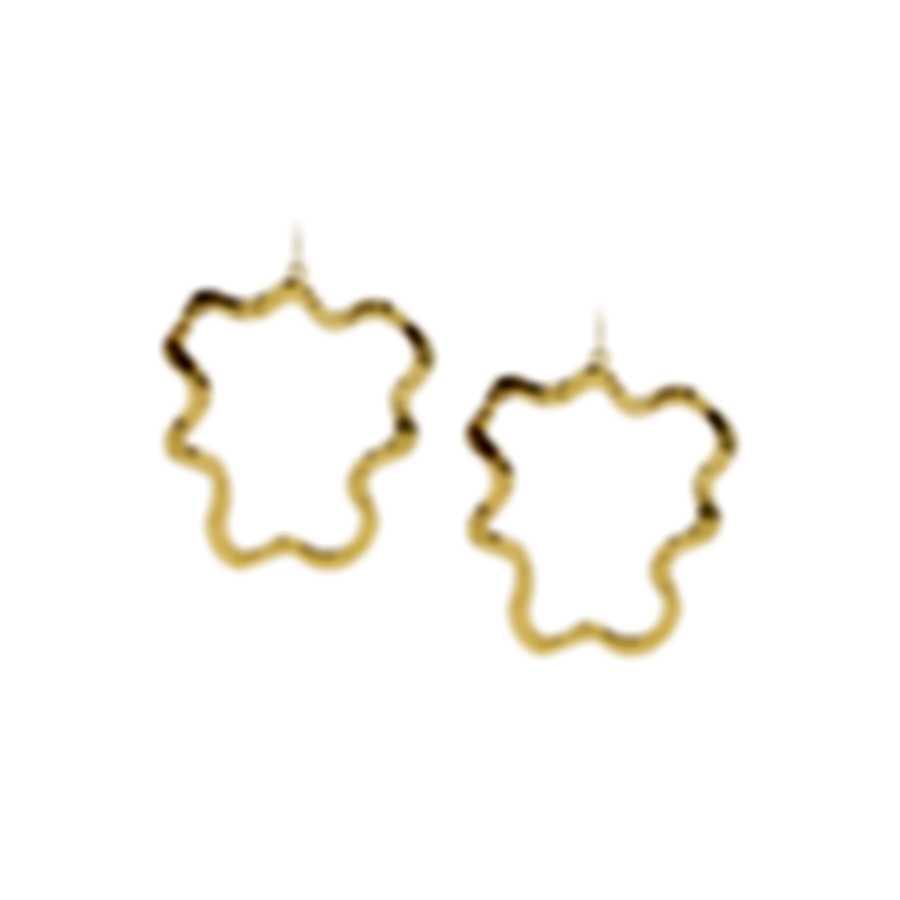Devon Leigh 18K Gold Plated Brass Dangle Earrings E3678