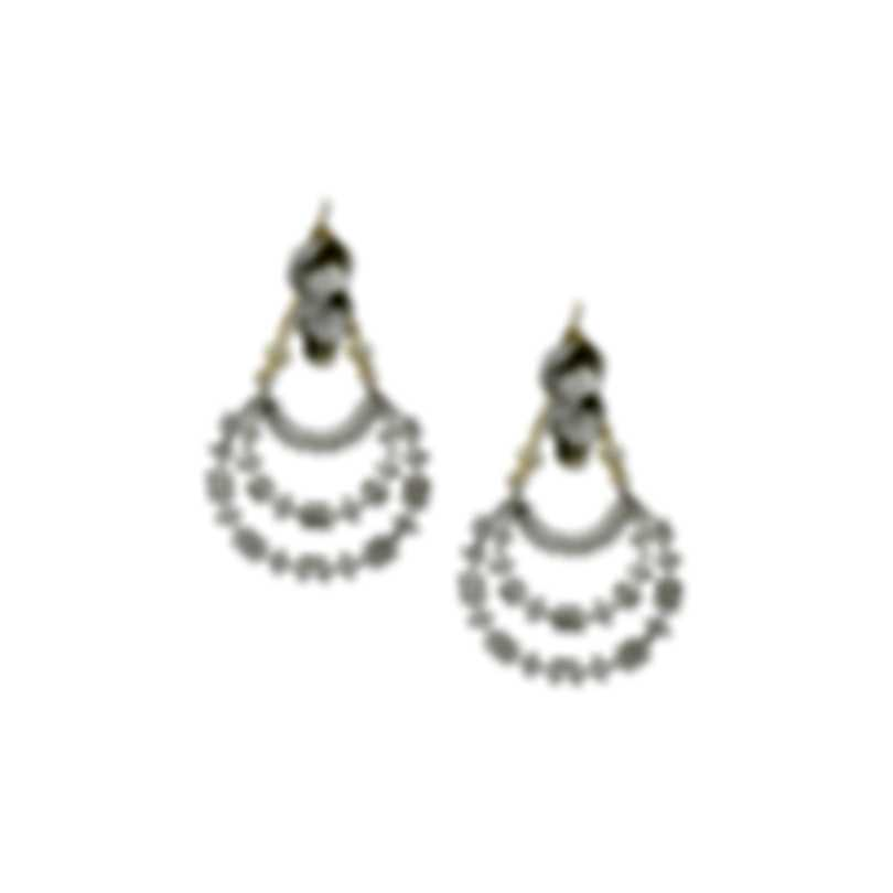Devon Leigh Rhodium Plated Brass And 14k Gold Dangle Earrings E3768