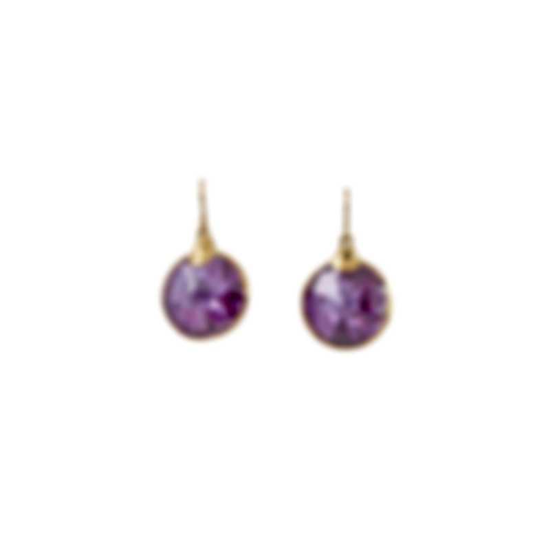 Devon Leigh 24K Gold Plated & Lucky Star Cubic Zirconia Drop Earrings E3845-LVD