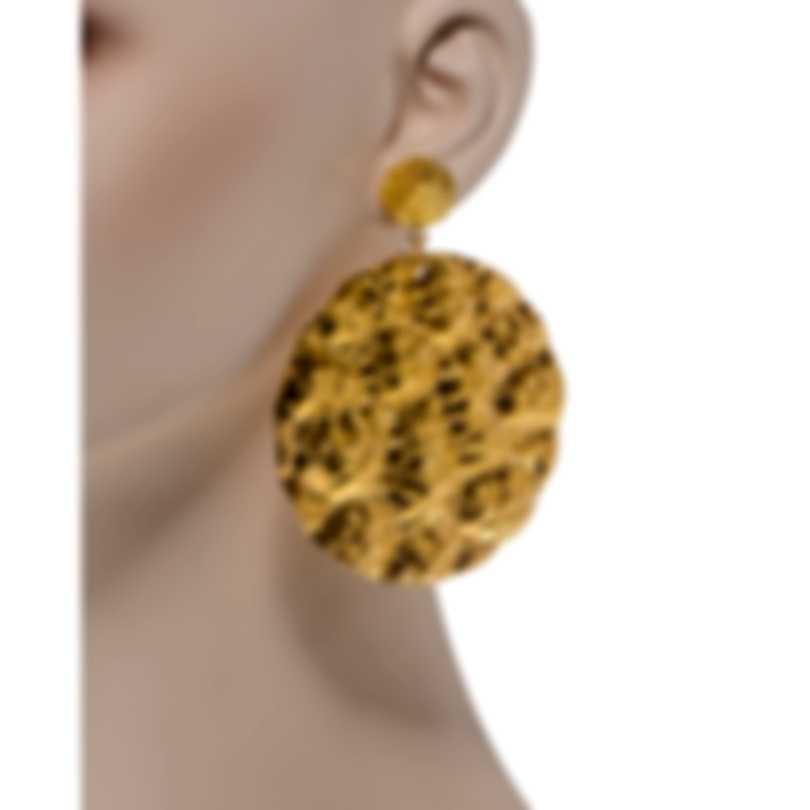 Devon Leigh 18K Gold Plated Brass Dangle Earrings E3305