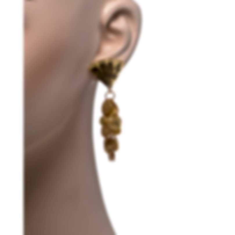 Devon Leigh 24k Gold Plated Brass And 14k Gold Dangle Earrings E4412