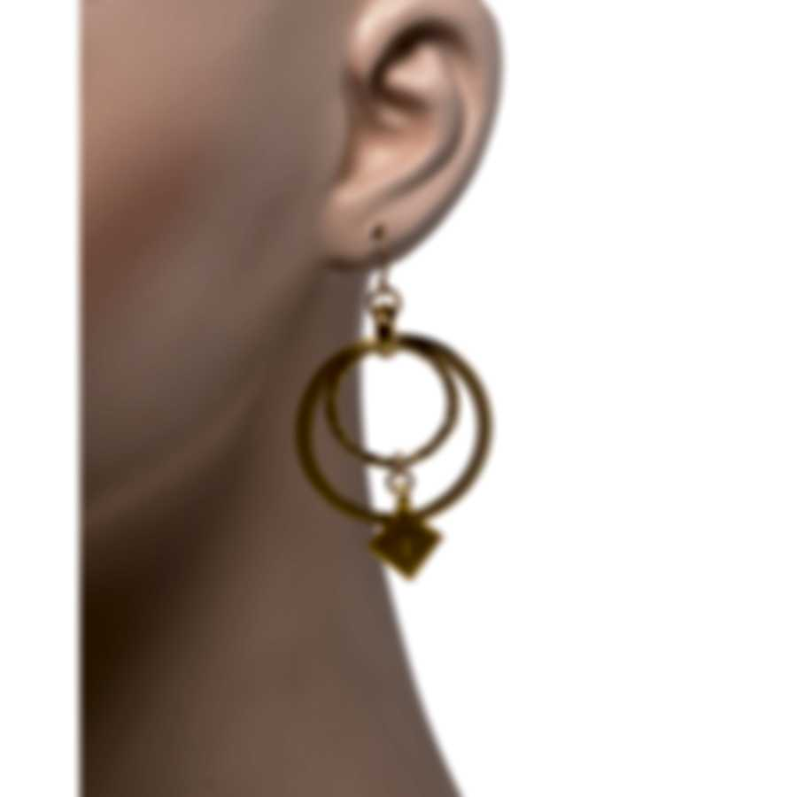 Devon Leigh 18K Gold Plated Brass And 14k Gold Dangle Earrings E4476