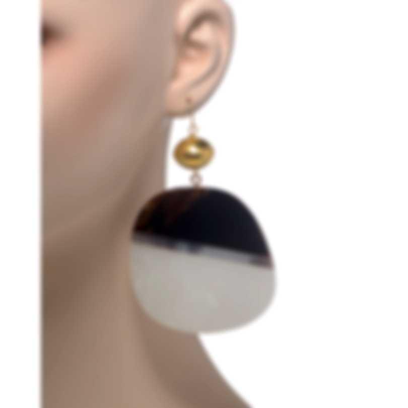 Devon Leigh 18K Gold Plated Brass And 14k Gold Dangle Earrings E4026