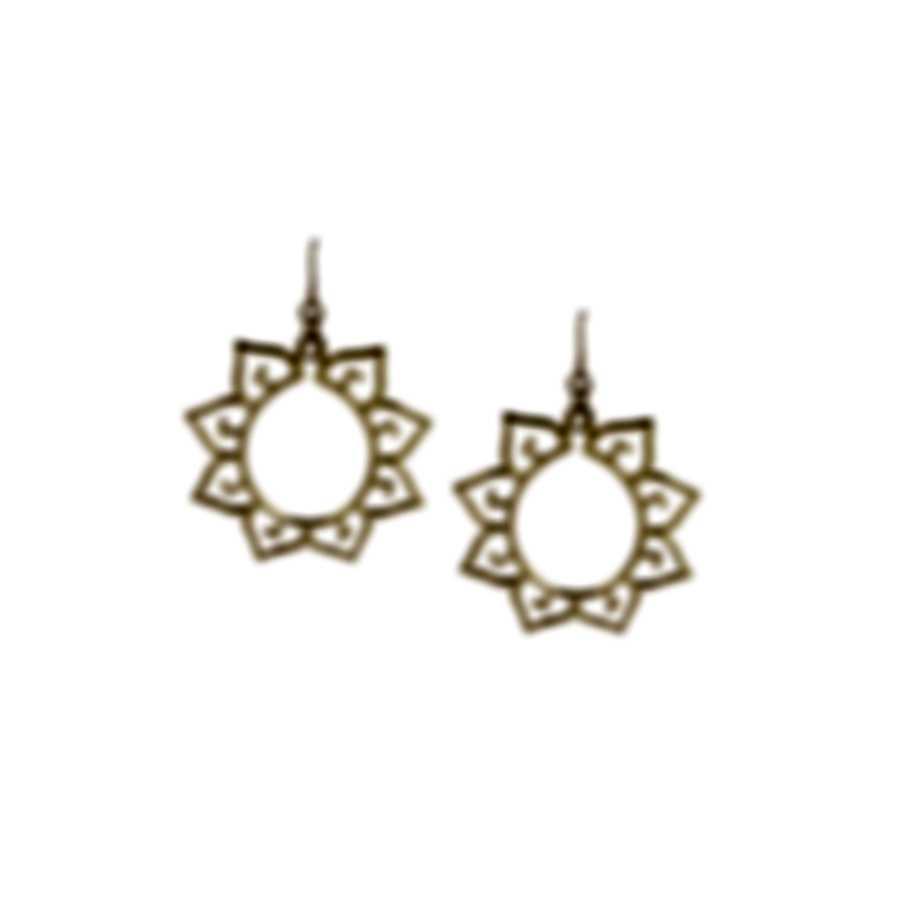 Devon Leigh 18k Gold Plated Brass And 14k Gold Dangle Earrings E4078