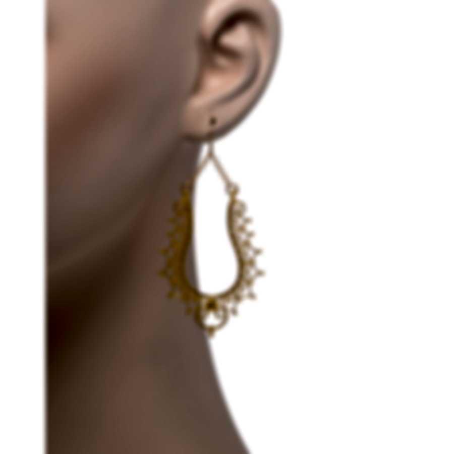 Devon Leigh 18K Gold Plated Brass And 14k Gold Dangle Earrings E4090