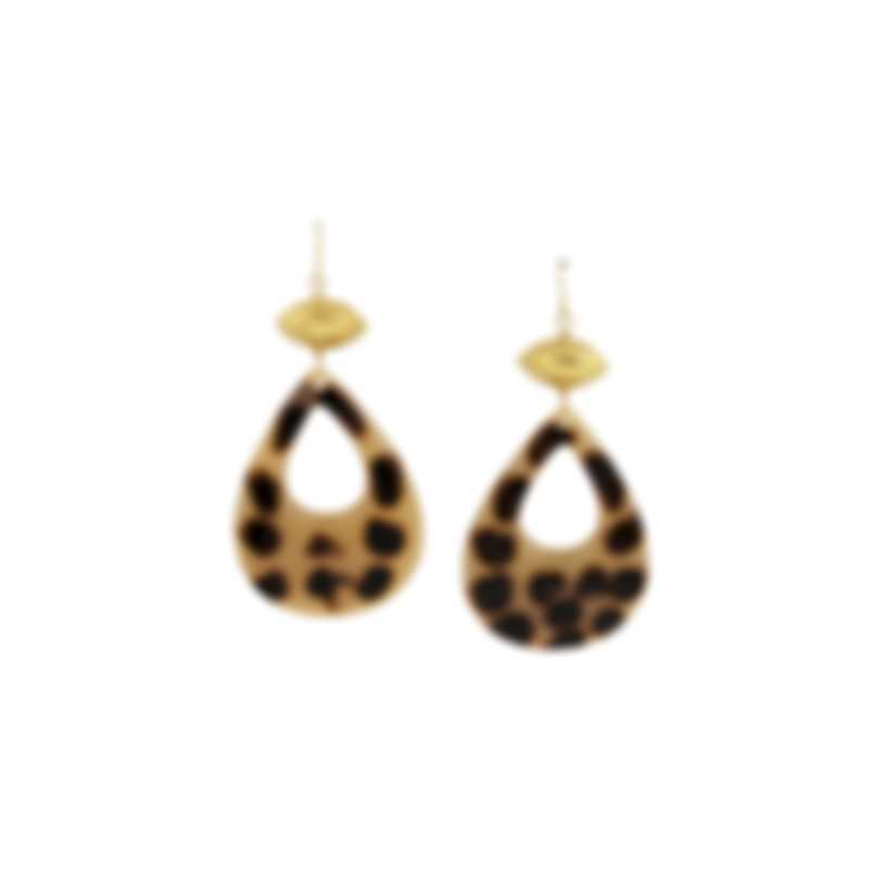 Devon Leigh Resin 18K Gold Plated Brass, 14K Gold Filled Ear Wire Earrings-1
