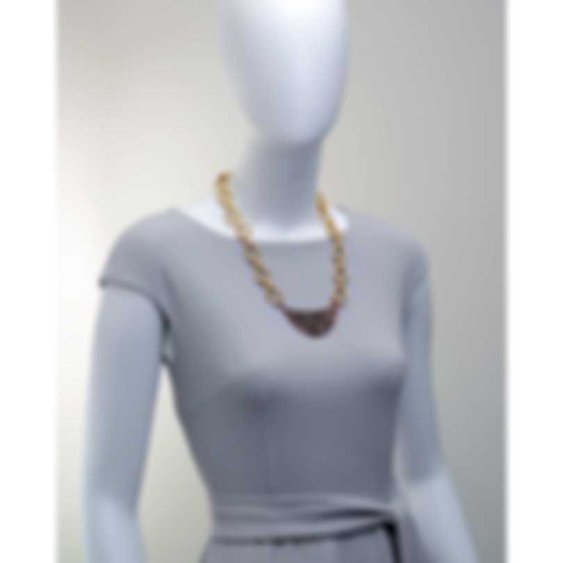 Devon Leigh Rose Gold Plated Brass & Hematite Chain Necklace N4758
