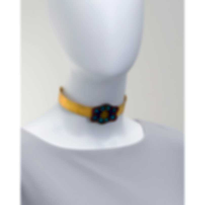 Devon Leigh 18k Gold Plated Brass & Coral Choker Necklace N5753