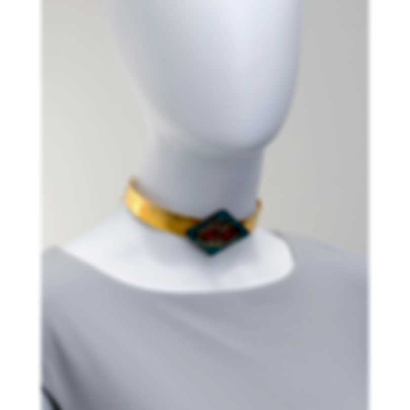 Devon Leigh 18k Gold Plated Brass & Coral Choker Necklace N5754