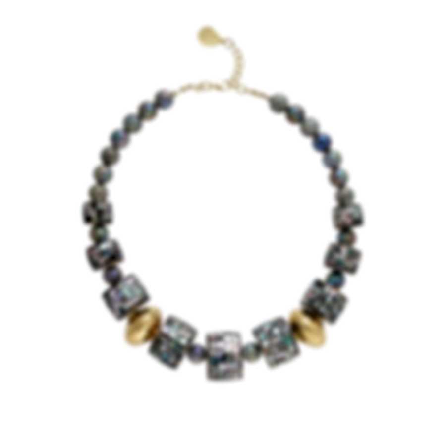Devon Leigh 18k Gold Plated Brass & Labradorite Collar Necklace N5823