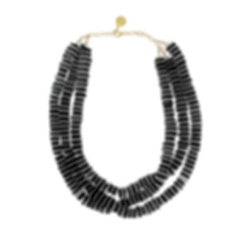 Devon Leigh 14K Gold And Black Onyx Multi Strand Necklace N5966