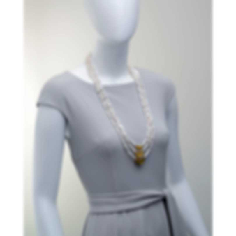 Devon Leigh 18k Gold Plated Brass & Freshwater Pearl Multi Strand Necklace N5376