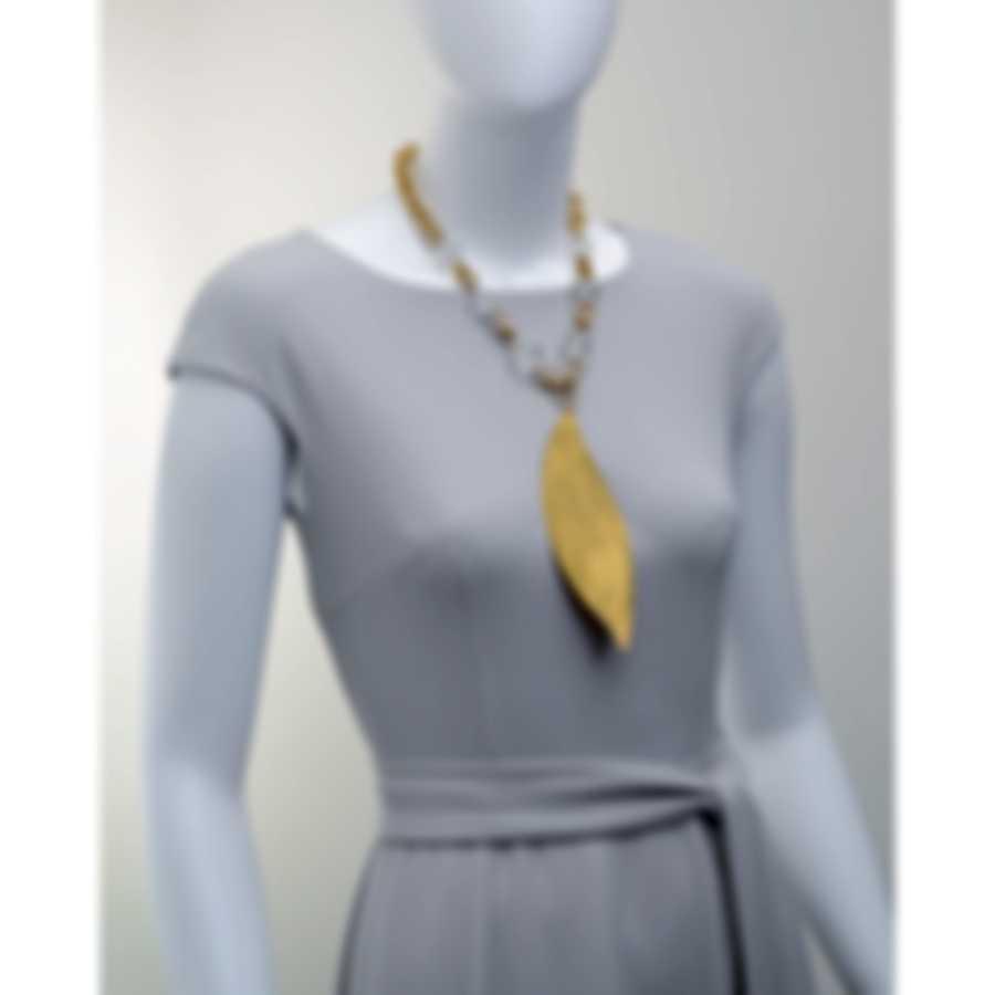 Devon Leigh 18k Gold Plated Brass & Clear Quartz Pendant Necklace N6321