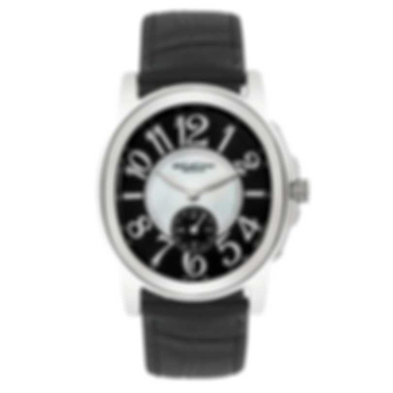 DeLaCour Calandre Mother Of Pearl Quartz Ladies Watch WAST2157-0883-BLK