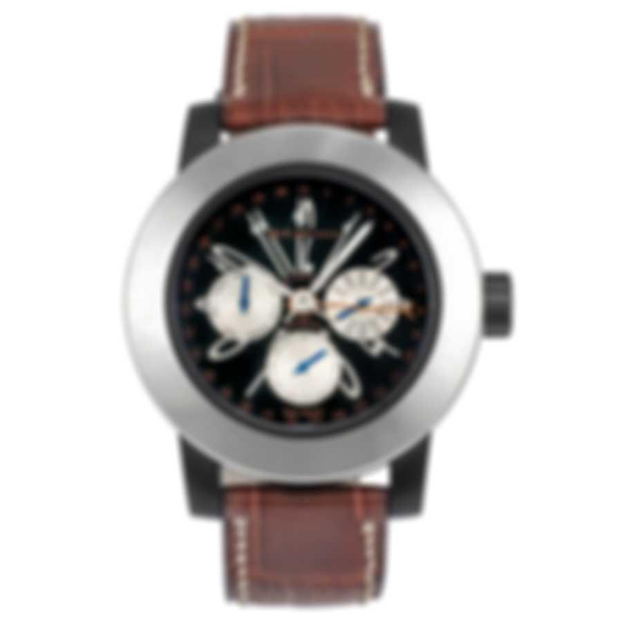 DeLaCour Fusion Calendar GMT Automatic Men's Watch WATI0139-004-BRL