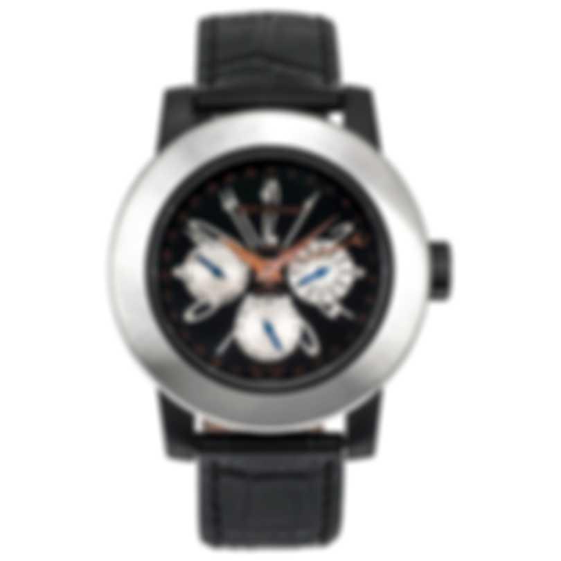 DeLaCour Fusion Calendar GMT Automatic Men's Watch WATI0139-004-LBB