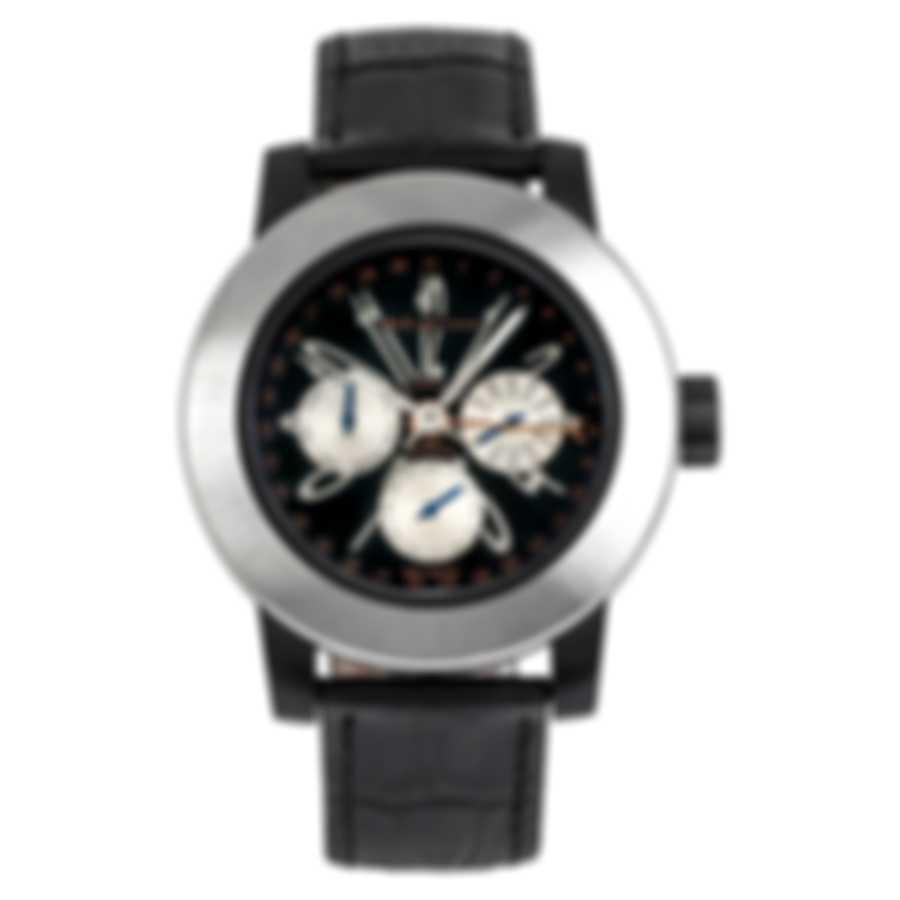 DeLaCour Fusion Calendar GMT Automatic Men's Watch WATI0139-004-LSB
