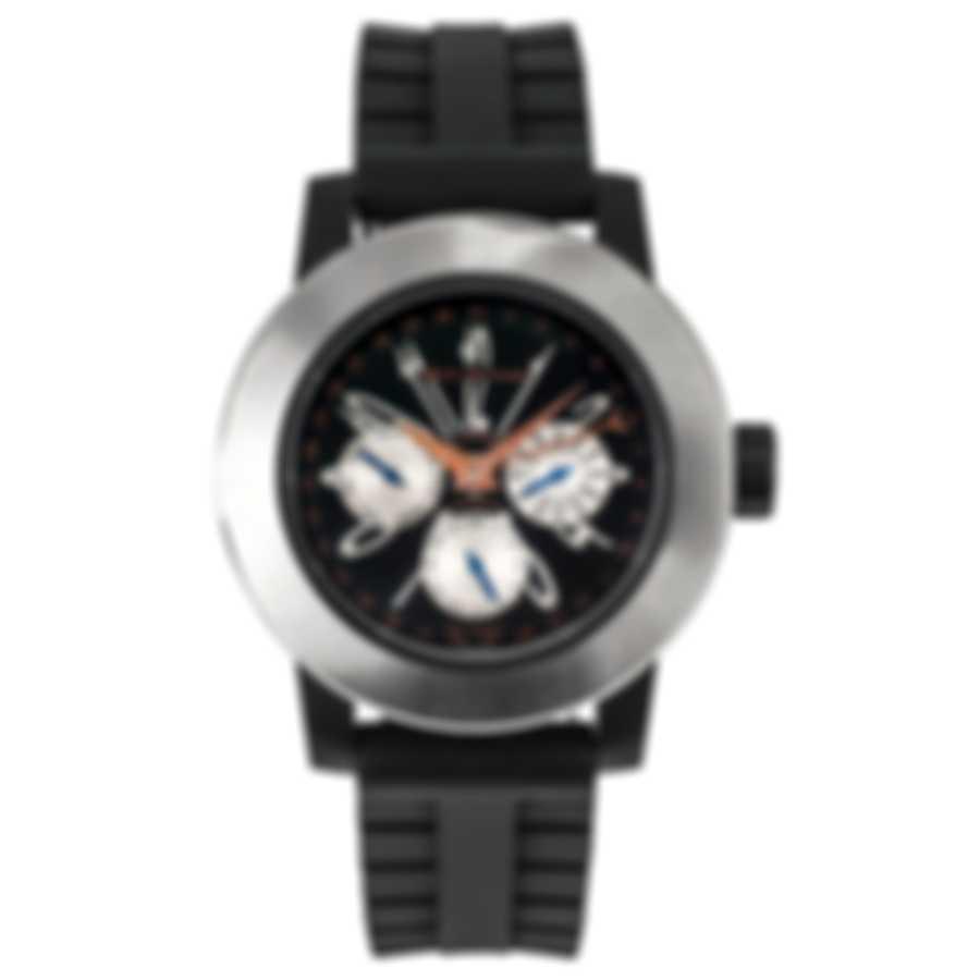 DeLaCour Fusion Calendar GMT Automatic Men's Watch WATI0139-004-RBB