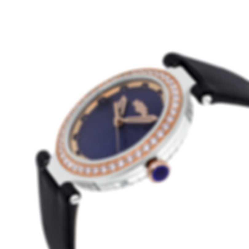 Dewitt Blue Empire Diamond Quartz Ladies Watch BEM.QZ.001 B