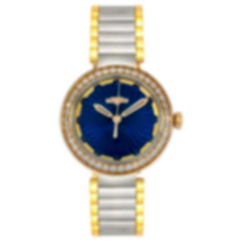 Dewitt Blue Empire Diamond Quartz Ladies Watch BEM.QZ.001