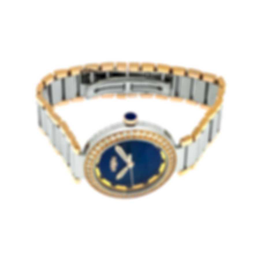 Dewitt Blue Empire Diamond 18K Rose Gold And Steel Quartz Ladies Watch BEM.QZ.001