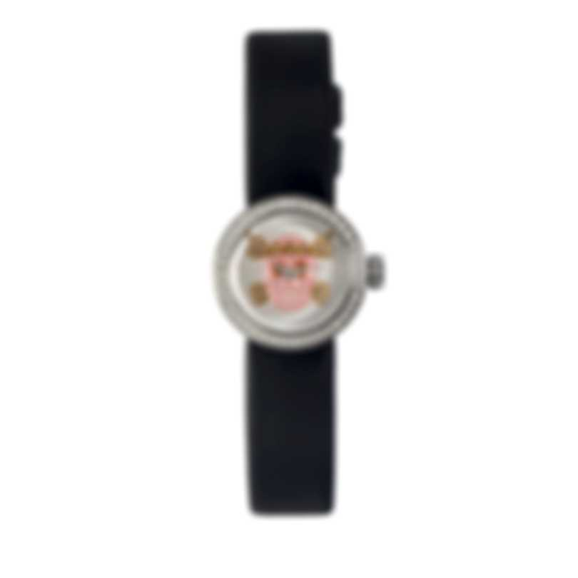 "Dior La Mini D De Dior Diamond ""Skull Dial"" Quartz Ladies Watch CD040110A030"
